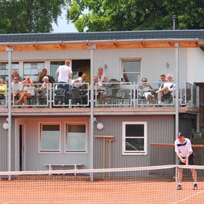 Tennis Sport dank Sponsoren
