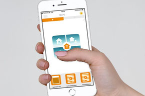 Smart Home, Steuerung, Home Automation, Internetsteuerung, Fernbedienung, Sonnensensor, Windfühler, Regensensor, Handsender, Smartphone, Tablet, Antrieb, Motor, Storen