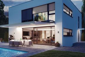 Smart Home, Steuerung, Home Automation, Internetsteuerung, Fernbedienung, Sonnensensor, Windfühler, Regensensor, Handsender, Smartphone, Tablet, Antrieb, Motor, Storen, Feuermelder