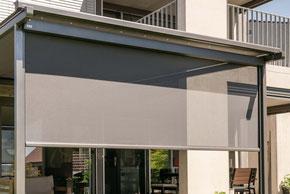 Glasdach, Glasdachsystem, Beschattung, Wintergarten, Vertikalbeschattung, Storen