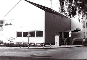 dudweiler, saarbruecken, post, anbau, postgebaeude, 1971