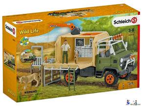 """Bei der Bestellung im Onlineshop der-Wegweiser erhalten Sie das Schleich Paket 42475 """"Grosser Truck Tierrettung""""."""