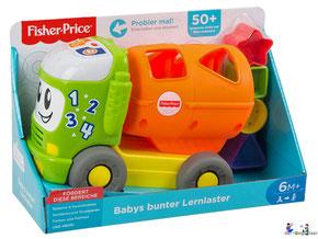 """Bei der Bestellung im Onlineshop der-Wegweiser erhalten Sie das FisherPrice Paket """"Babys bunter Lernlaster""""."""