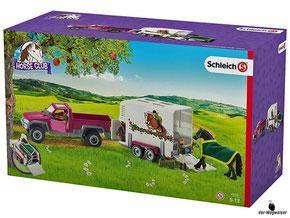 """Bei der Bestellung im Onlineshop der-Wegweiser erhalten Sie das Schleich Paket 42346""""Pick-up mit Pferdeanhänger""""."""