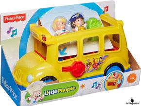 """Bei der Bestellung im Onlineshop der-Wegweiser erhalten Sie ein Fisher-Price Paket mit einem """"Schulbus""""."""