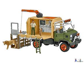 Im Paket Schleich 42475 Grosser Truck Tierrettung sind mehr als 10 Teile enthalten.