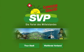Website SVP Thun