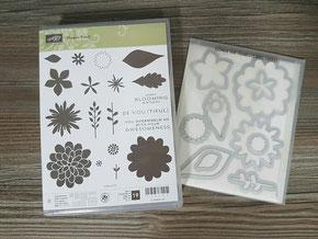 Stempelset Flower Patch mit passenden Framelits, WIE NEU, nur einmal benutzt, Preis: 55 Euro