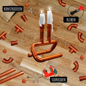 DIY Kupfer Kerzenständer von Niet- und Nagelfest