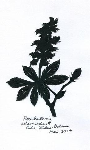Blühende Rosskastanie