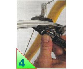 Lors de vos premiers dévoilages, repérer le voile à l'aide d'un stylo feutre. Faite tourner la roue, les marques d'encre indiquent les zones qui se sont rapprochées