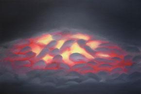 Gluthaufen, 40 x 60 cm, Öl auf Leinwand, 2012