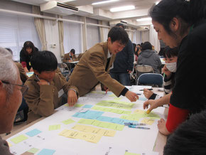岩切市民センターで行った「防災力UP講座 みんなでつくろう!避難所設計図」(12月16日)
