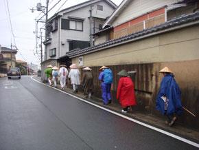 雨の城陽市内
