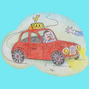 Beispiel kreative Webseite Taxi