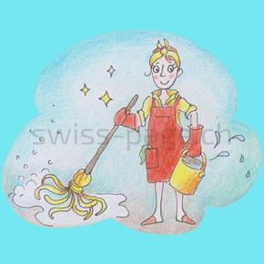 Beispiel kreative Webseite Reinigung