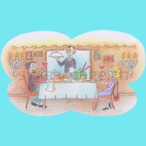 Beispiel kreative Webseite Gastronomie