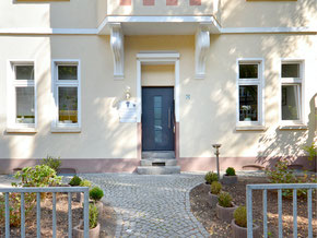Zahnarzt Duesseldorf - Eller Eingang Richardstraße 51