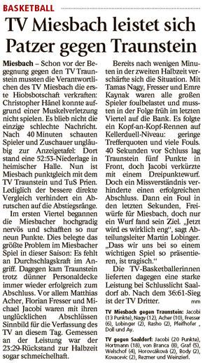 Bericht im Miesbacher Merkur am 1.3. 2018 - Zum Vergrößern klicken