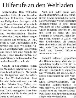 Quelle: Freilassinger Anzeiger, 24.07.2020