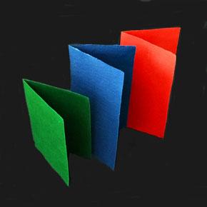 Doppelkarten aus Baumwollpapier