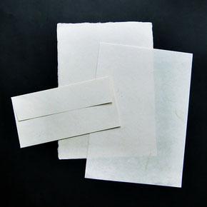 Briefbögen aus Abaca/Gampi-Papier