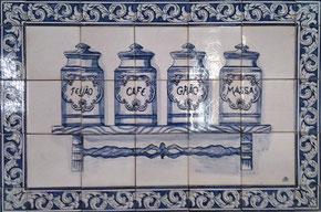"""""""Küchen Nostalgie"""" blau-weiß Art.-Nr.: PN-112, Größe: 84x56cm"""