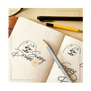 my sunny dreams fci pomeranian spitz kennel logo design order lviv lvov ukraine kiev handdrawn