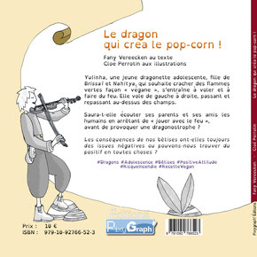 4 ème de couverture du livre Le dragon qui créa le pop-corn illustré par Cloé Perrotin