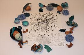 Illustration d'Emilie la sirène illustrée par Cloé Perrotin
