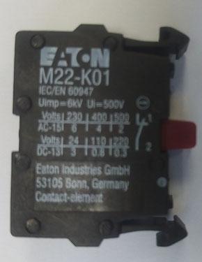 Frontansicht Eaton M22-K01