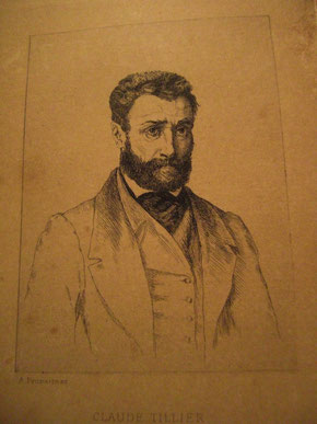Claude Tillier, lithographie d'Alfred Prunaire