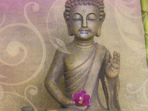 Banburi-Thaimassage Nürnberg Buddha mit Orchidee