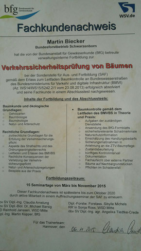 Forstwirt / Baumkontolleur