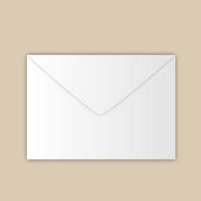 Kleines Kuvert verschließen