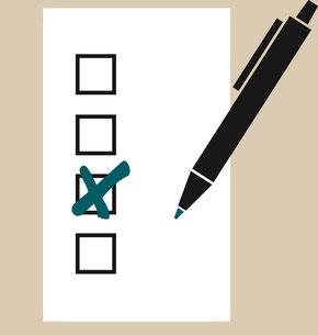 Stimmzettel ausfüllen