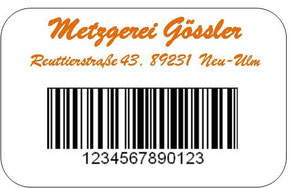 Rückseite personalisierte Kundenkarte