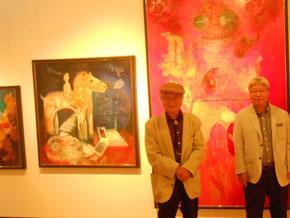 左から画家のお師匠様、そして画家の佐藤進さん