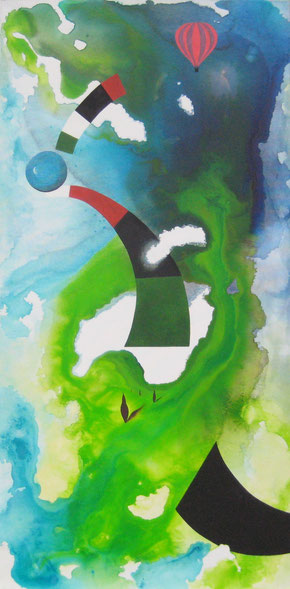 Traumland, 50 x 100 cm, Acrylfarbe
