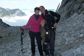 Auf'm Berg mit der Familie