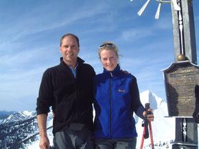 Gipfelglück mit Ehefrau Tina