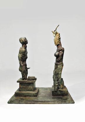Figur 273+275, Bronze, 2015, 38,5x32x21cm
