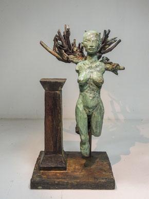 Fig 380, 2017, Bronze, Höhe35,5cm, Unikat