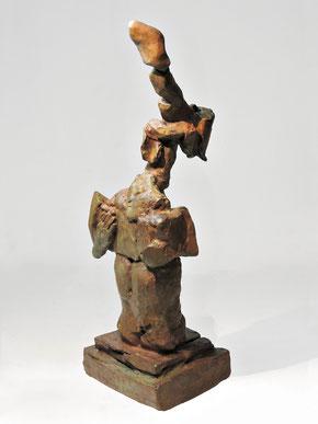 Figur 279, Bronze, 2015. 27,5x10,8x8,5cm