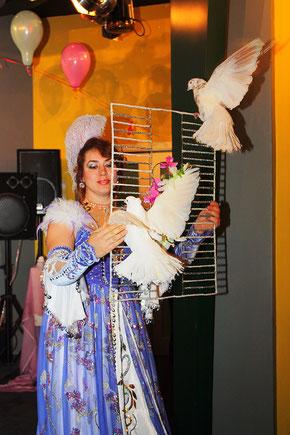 Шоу с дрессированными животными для детей на детский праздник или день рождения ребенка Москва