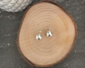 Boucles d'oreilles puce argent perle