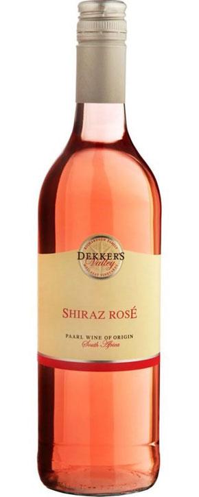 Mellasat Dekker's Valley Shiraz Rosé 2016 Frisch, fruchtig und nicht zu süß - dieser trockene, südafrikanische Rosé duftet wunderbar nach reifen Erdbeeren und Himbeeren. Ein leichter, erfrischender Wein, perfekt für warme Sommertage. Hergestellt aus 100%