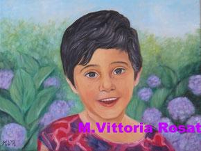 Portrait, oil on canvas, cm 30x40 - 2015  n.d.