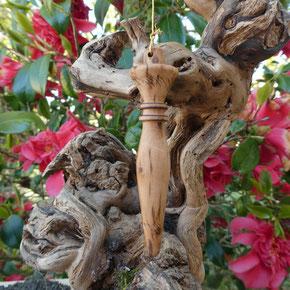 Pendule bois cerisier site Alain RIVERA