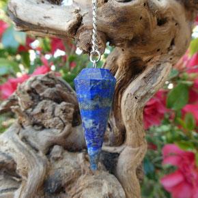 Pendule lapis lazuli site Alain Rivera